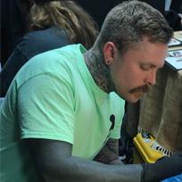 Sneaky-Mitch, tattooist at Gold Room Tattoo, Leeds, UK